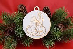 Drevená vianočná ozdoba gravírovaná 60