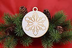 Drevená vianočná ozdoba gravírovaná 62