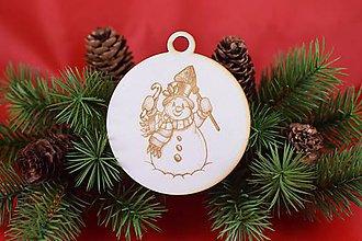 Dekorácie - Drevená vianočná ozdoba gravírovaná 59 - 7562754_