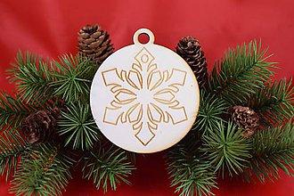 Dekorácie - Drevená vianočná ozdoba gravírovaná 62 - 7563334_