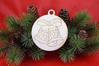 Dekorácie - Drevená vianočná ozdoba gravírovaná 65 - 7563343_