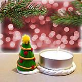 Svietidlá a sviečky - Svietnik vianočný stromček - 7562615_
