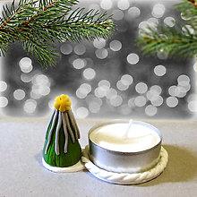 Svietidlá a sviečky - Svietnik vianočný stromček (strieborný NA ZÁKAZKU) - 7564480_