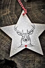 Dekorácie - Sob Rudolf na hviezde - 7561518_