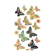Papier - Samolepky na dekorovanie - motýľ - 7565601_