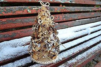 Dekorácie - Vianočný stromček - Prírodný - 7567672_