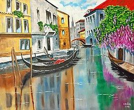 Obrazy - Benátske gondoly - 7565723_