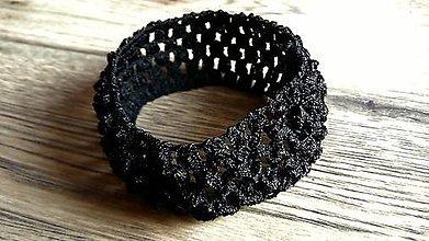 Komponenty - Elastická čelenka - čierna - 7565420_