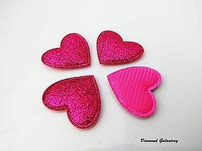 Galantéria - Ozdobné srdiečko ružové - 7569411_