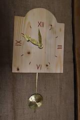 Hodiny - Drevené hodiny č. 34 - 7567184_