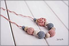 Náhrdelníky - Nostalgia - háčkovaný nielen dojčiaci náhrdelník - 7567071_
