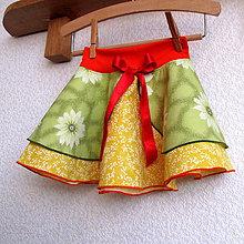 Detské oblečenie - Sukýnka kolová pro veselou kopu - 7567026_
