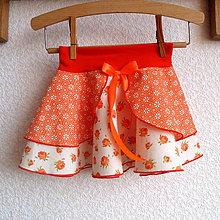 Detské oblečenie - Sukýnka kolová pomerančová č.1 - 7567118_