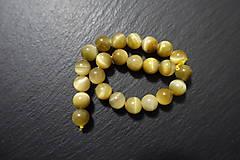 Minerály - Tigrie oko žlté farbené 8mm - 7569031_