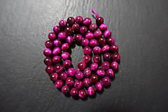 Minerály - Tigrie oko červenoružové farbené 6mm - 7569059_