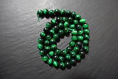 Minerály - Tigrie oko zelené farbené 6mm - 7569085_