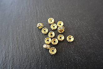 Korálky - Rondelka zlatá 6mm - 7566965_