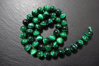 Minerály - Tigrie oko zelené farbené 8mm - 7568985_