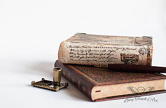 "Papiernictvo - "" Vintage"" Diary / na zákazku :) - 7568141_"