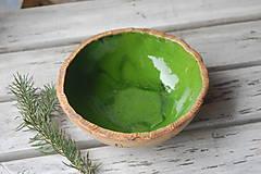 Nádoby - Keramická miska zelená - 7566182_
