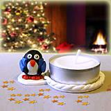 Svietidlá a sviečky - Svietnik tučniak v kabáte NA ZÁKAZKU - 7565354_