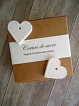 Srdiečka biele - sada Coeurs de sucre