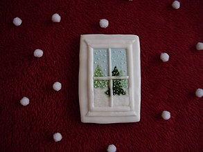 Dekorácie - medovník-zima za oknom - 7571340_