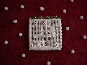 Dekorácie - medovník-zimný srnček - 7571352_