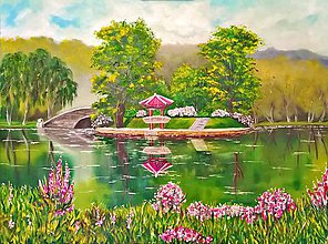 Obrazy - Japonská záhrada - 7570609_