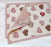 Úžitkový textil - Prestieranie - Srdce - 7571788_
