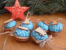 Dekorácie - Vianočné oriešky - mentolky - 7570480_