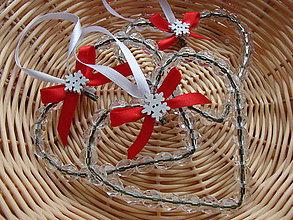 Dekorácie - vianočne srdiečka - 7572561_