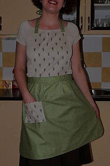 Iné oblečenie - Zástera s levanduľovými kytičkami - 7572491_