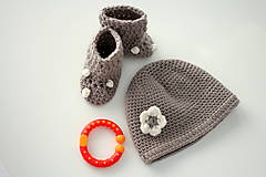 Detské čiapky - BABY MERINO čiapočka - 7573614_