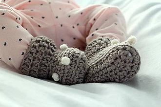 Topánočky - ZĽAVA BABY MERINO topánočky - 7573556_