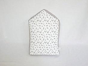 Úžitkový textil - domčekový vankúšik - 7573043_