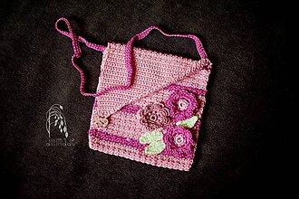 Detské doplnky - Hačkovaná kabelka - 7572362_