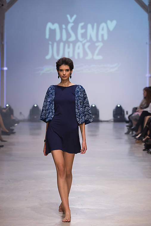 Šaty - Modrotlač listy  - 7572952_