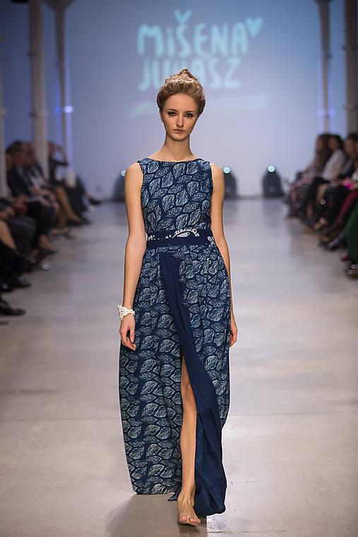Šaty - Modrotlač listy II. - 7573184_