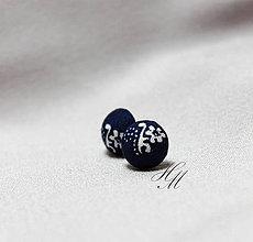 Náušnice - Náušnice modrotlačové - 7571859_