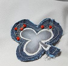 Odznaky/Brošne - Brošňa rifľová karty - 7571982_
