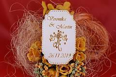 Drevená svadobná magnetka ako vyslužka hosťom  67