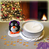 Svietidlá a sviečky - Svietnik tučniak na zákazku - 7570504_