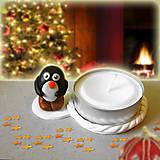 Svietidlá a sviečky - Svietnik tučniak čižmami NA ZÁKAZKU - 7570966_
