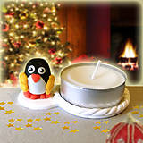 Svietidlá a sviečky - Svietnik tučniak s rukavicami NA ZÁKAZKU - 7572402_