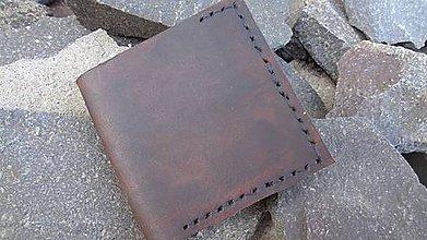 Peňaženky - Kožená peňaženka na vizitky/karty - 7572024_