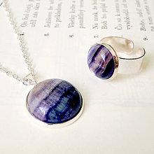 Sady šperkov - Fluorite in Silver Set / Sada s fluoritom v striebornom prevedení - 7576869_