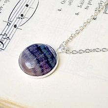 Náhrdelníky - Fluorite in Silver Necklace / Náhrdelník s fluoritom v striebornom prevedení - 7576955_