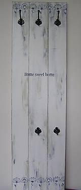 Nábytok - Vešiak - home sweet home/zelený - 7577530_