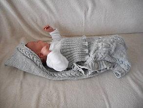 Detské oblečenie - Fusak pre bábätko so sovičkami - 7577958_
